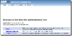 ASP.NET Web Site Administration Tool