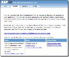 ASP.NET Web Site Administration Tool Secu
