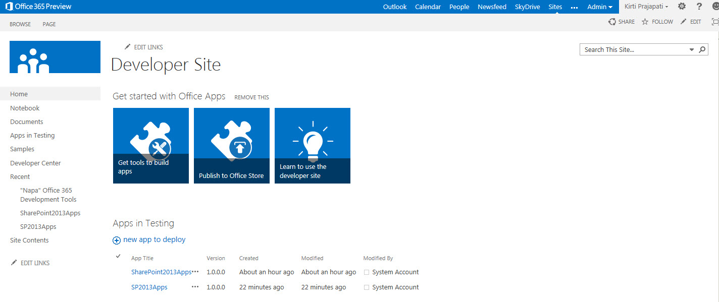 sharepoint 2013 how to create basic app for sharepoint using napa
